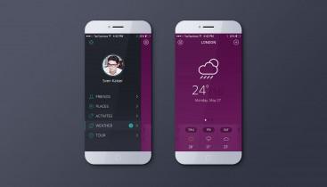天气 app