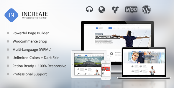 inCreate Responsive MultiPurpose WordPress Theme inCreate 自适应多用途 WordPress主题v1.0.3  wp主题