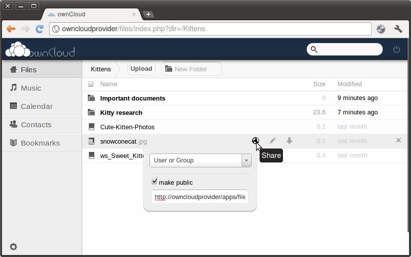 124 ownCloud 7 发布 php个人网盘系统