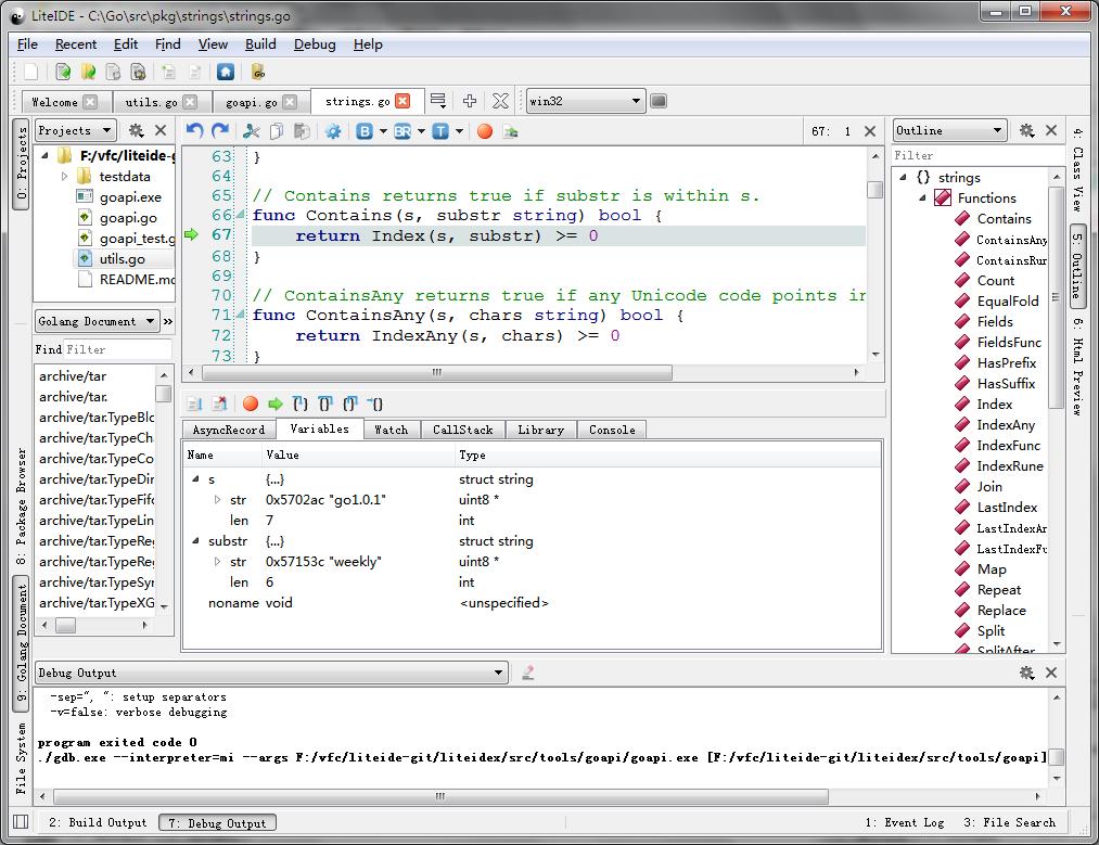 318 LiteIDE x23 发布 LiteIDE x23下载 Go 语言开发工具