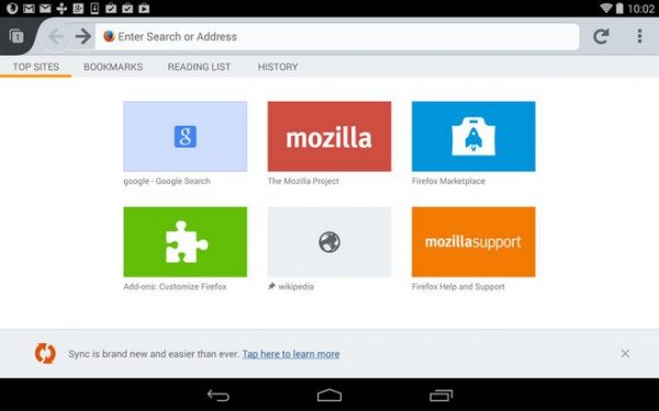 %name Android版Firefox Beta更新
