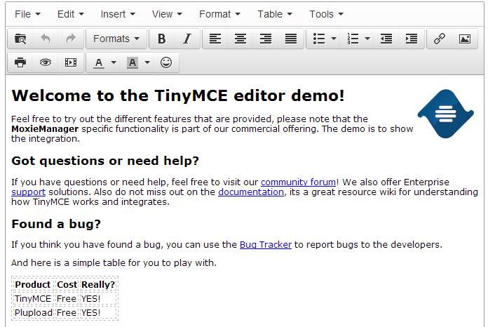 tinymce TinyMCE 4.1.8 发布 可视化 HTML 编辑器