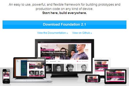 132 Foundation 5.4.3 发布下载  响应式 Web UI 框架