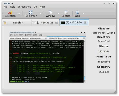 19 Shutter 0.92 发布下载  Linux 屏幕截图工具下载