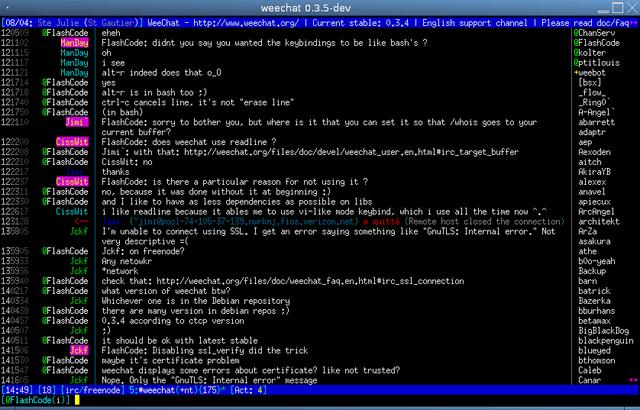 49 WeeChat 1.0 正式发布下载  轻量级 IRC 客户端
