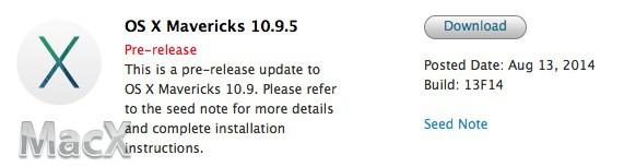 82 Mac OS X Mavericks 10.9.5 最新测试版(13F14)发布下载