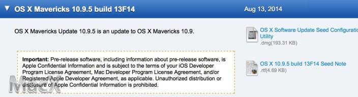 91 Mac OS X Mavericks 10.9.5 最新测试版(13F14)发布下载