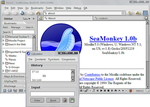 13 SeaMonkey 2.29 Beta 2 发布下载  Mozilla 浏览器套件