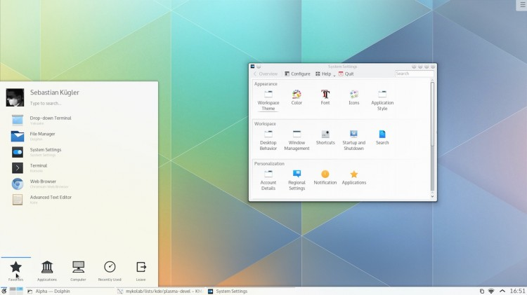1 Kubuntu 15.04 将默认使用 Plasma 5 桌面