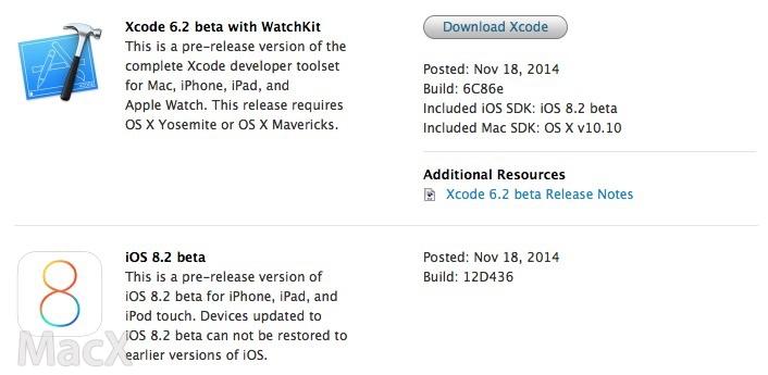 215 苹果发布 iOS 8.2 测试版,Apple Watch 开发工具