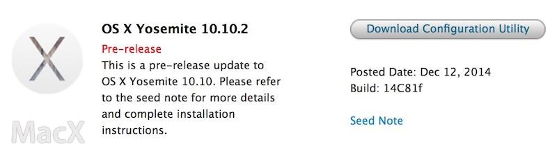 117 苹果发布 OS X Yosemite 10.10.2 第三个测试版