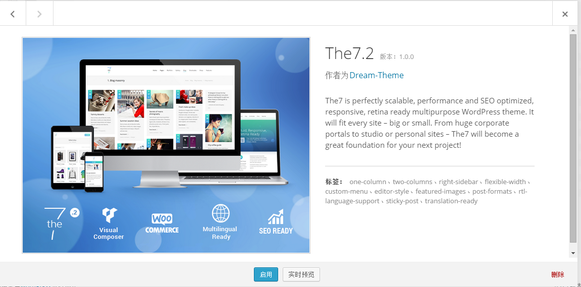 13 wordpress The7.2 v.1.0.0使用教程 The7.2 v.1.0.0汉化版下载