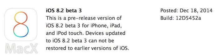 19071256 Q653 苹果向开发者发布 iOS 8.2 第三个测试版