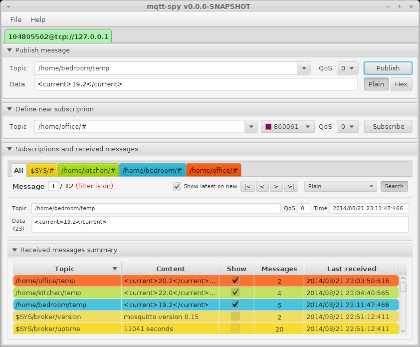 328 mqtt spy 0.1.4 beta 发布下载  MQTT 客户端工具