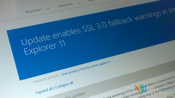 56 微软在 IE 11 浏览器中提供新选项移除 SSL 3.0 协议