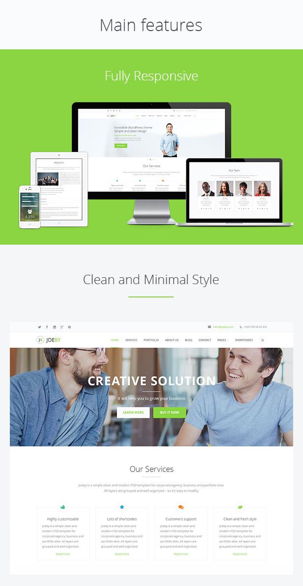 pres 1 JoeBy 大气干净简洁的企业商务网站模板