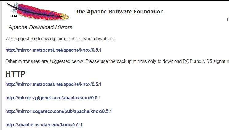 26 Apache Knox Gateway 0.5.1 发布