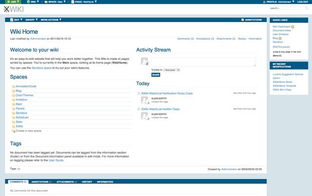 8888 XWiki 6.4 Milestone 3 发布,Java 的 Wiki 系统