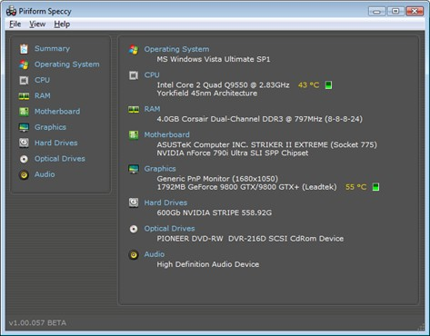 Speccy Speccy v1.28发布 硬件信息查看工具
