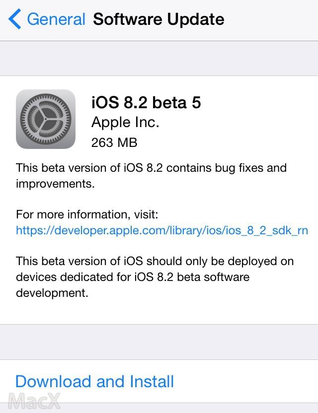 03101841 iu9L 苹果向开发者发布 iOS 8.2 第五个测试版