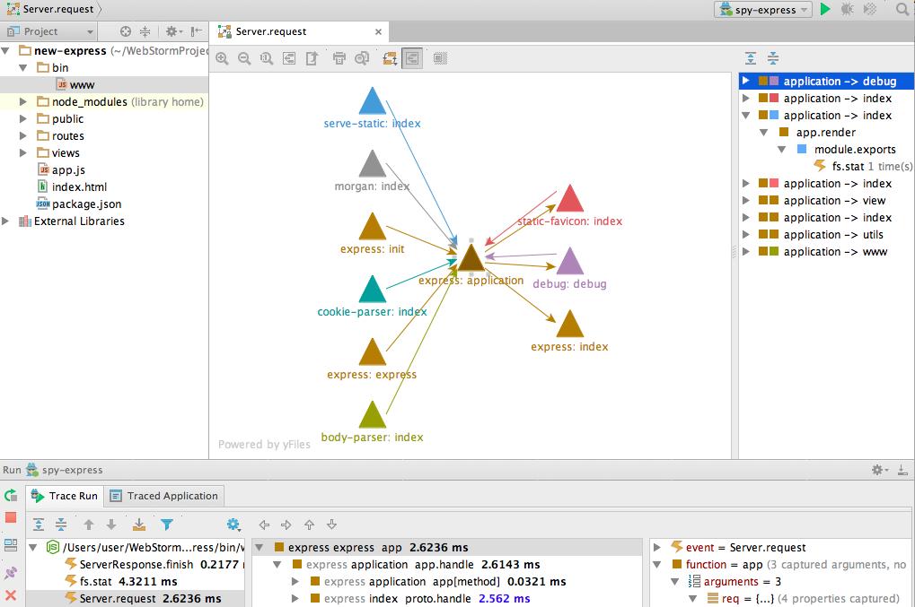 112 WebStorm 10 EAP更新 新增 spy js 应用依赖图