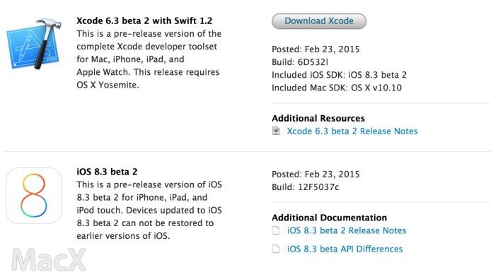 24065041 ClhR 苹果向开发者发布 iOS 8.3 第二个测试版
