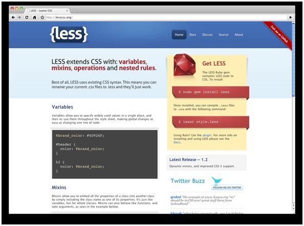 5 Less.js 2.4.0发布 CSS 预处理器