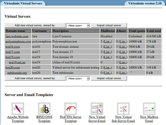 Virtualmin Virtualmin 4.14 发布 虚拟主机管理模块