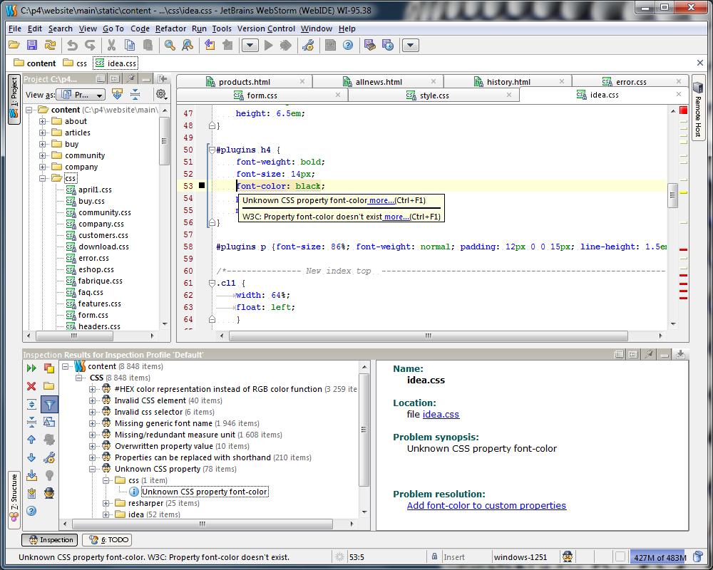 WebStorm WebStorm 10 EAP 发布 JavaScript 编辑器