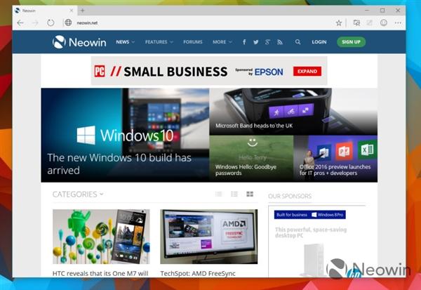 · Windows 10 新预览版发布!斯巴达浏览器登场