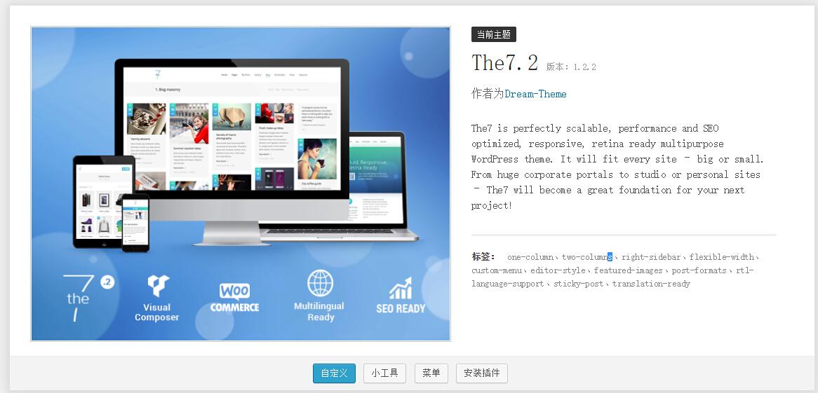 114 Wordpress The7.2 搭建企业网站基础教程