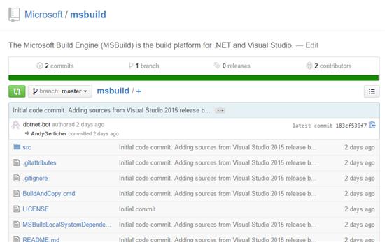 25 微软开源 Visual Studio 构建工具 MSBuild