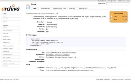 Archiva Apache Archiva 2.2.0 发布 远程存储管理