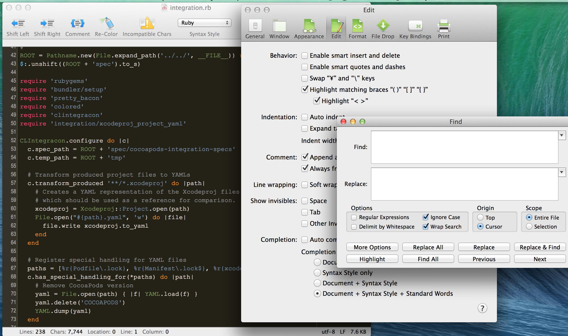 CotEditor1 CotEditor 2.1.2 发布  OS X 下的代码编辑器