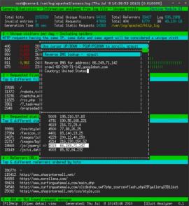 GoAccess 0.9 发布 Apache日志统计