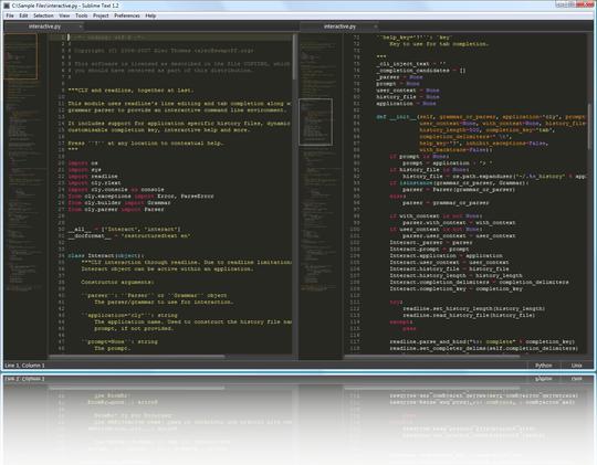 Sublime Text Sublime Text 3 Build 3083 发布