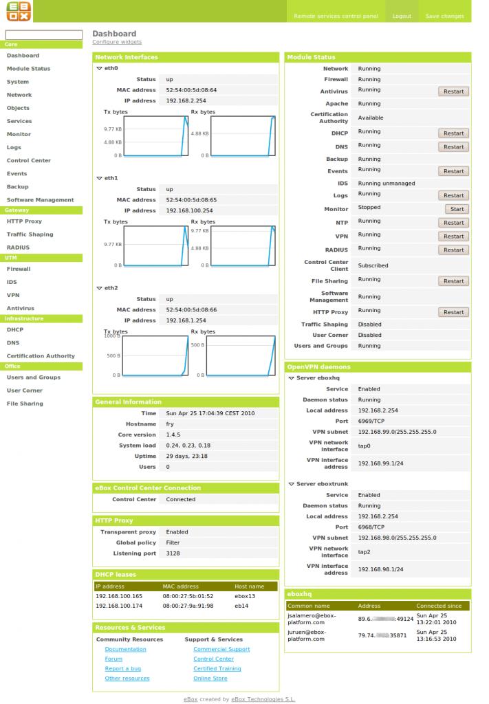 Zentyal Zentyal 4.1 发布 Linux 安全网关发行版