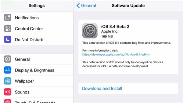 129 iOS 8.4 Beta 2 发布:音乐应用洗心革面