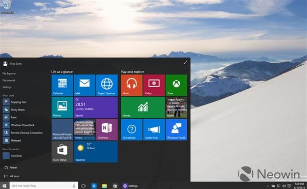 211 Windows 10 最新版暴多截图 Windows 10 Build 10056下载