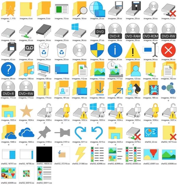 27 Windows 10 图标丑得惊天动地