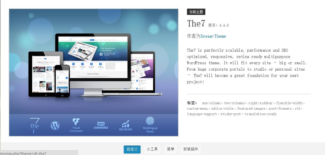 341 The7 v4.4.8与 The7.2 v2.1.0给主题添加博客自动摘要功能