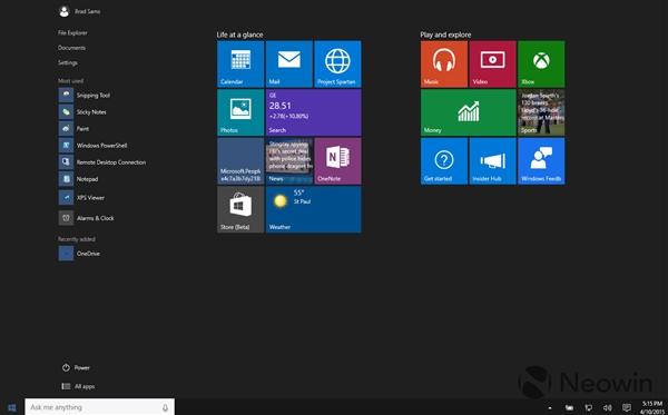 52 Windows 10 最新版暴多截图 Windows 10 Build 10056下载