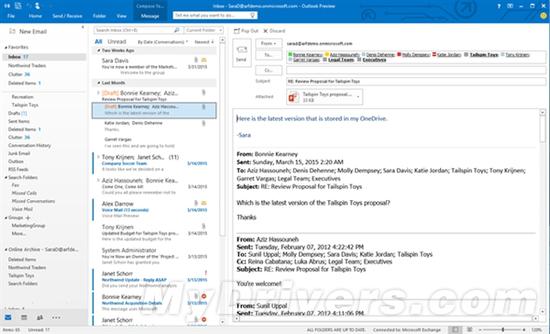 05204056 B0Uh 微软发布 Office 2016 公开预览版