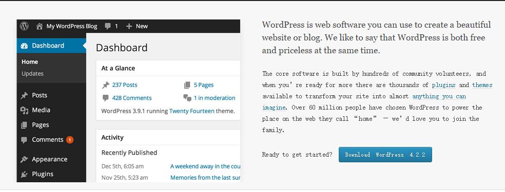 22222 wordpress 4.2.2 发布安全和维护版本更新