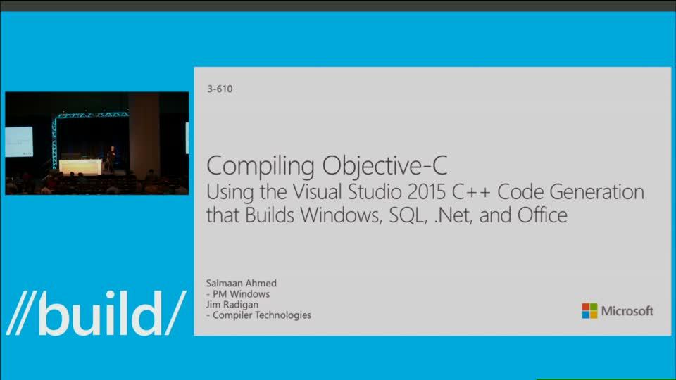 3 610 LG 视频:Visual Studio 2015 编译 Objective C