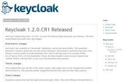 Keycloak 1.2.0.CR1 发布 SSO 集成解决方案