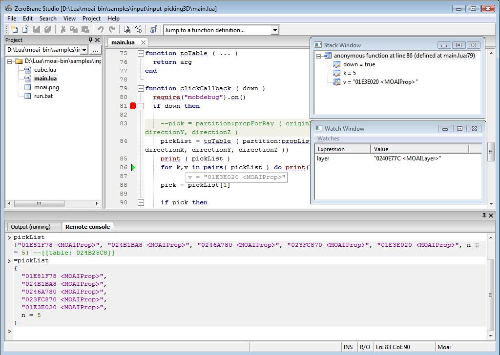 ZeroBrane Studio ZeroBrane Studio 1.0 发布 Lua 集成开发环境