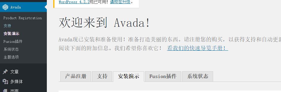 1112 Avada v3.8.4如何导入演示数据?