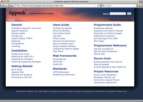 Appweb Appweb 4.7.2/5.4.1 发布 嵌入式 Web 服务器