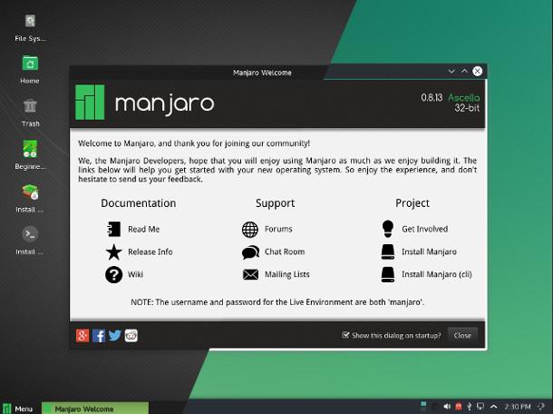 manjaro Manjaro Linux 0.8.13 发布 用户友好的 Linux